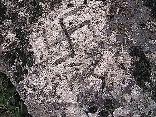 В Кабардино-Балкарии найдена пещера со свастикой (Видео + 6 фото)