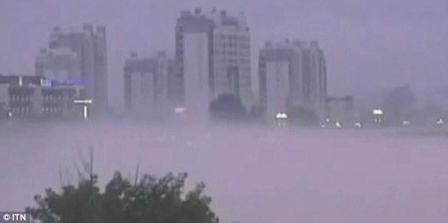 Мираж города-призрака в Китае