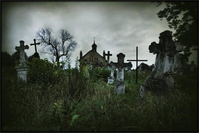 Ночные игры среди могил