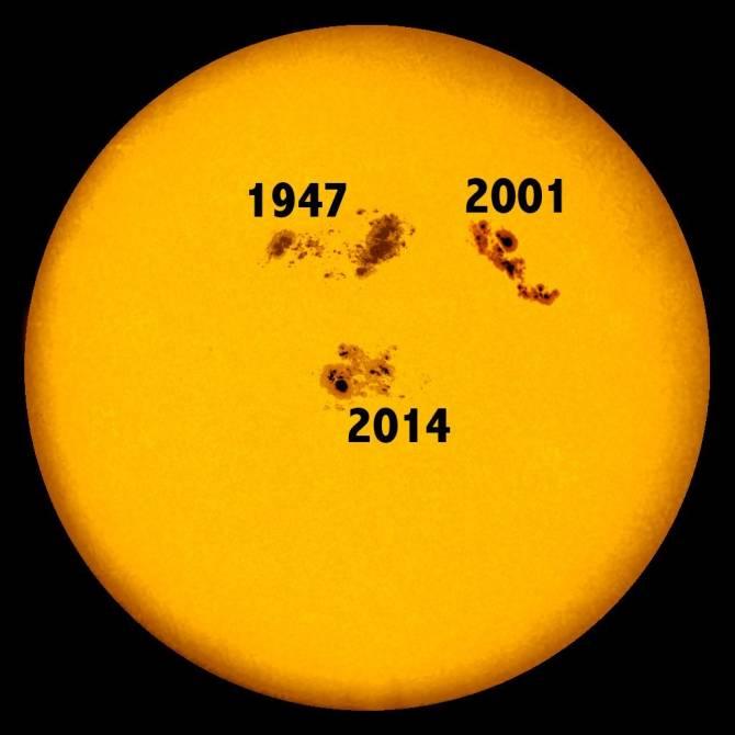 На Солнце замечено самое крупное пятно за 24 года (2 фото + видео)
