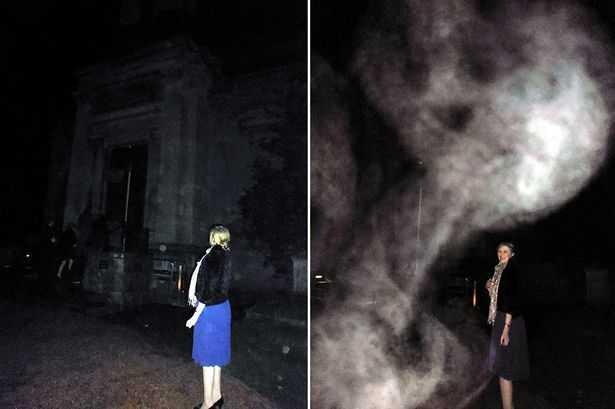 На кладбище засняли призрак в виде скелета