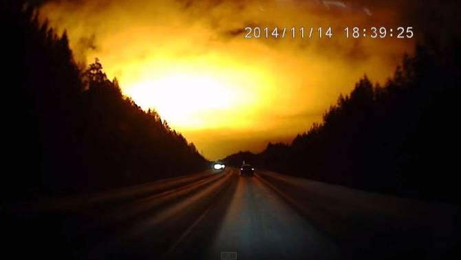 Над Свердловской областью наблюдали странную вспышку