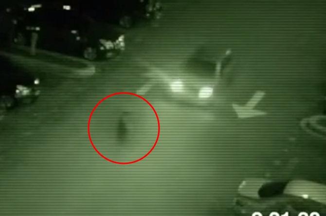 Призрак прошел перед едущим автомобилем