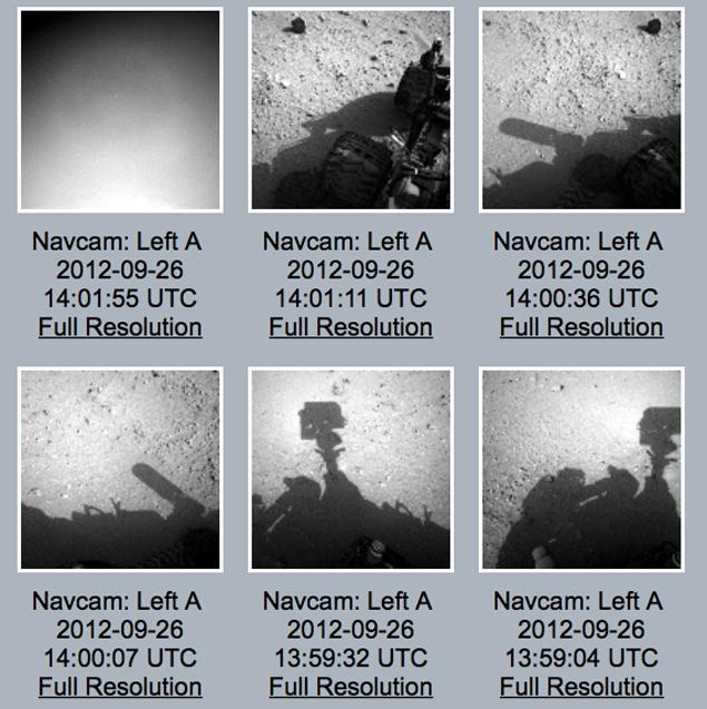 Рядом с марсианским роботом «Curiosity» увидели тень человека (3 фото)