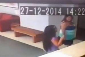 Жительницу Чили сбил с ног кто-то невидимый