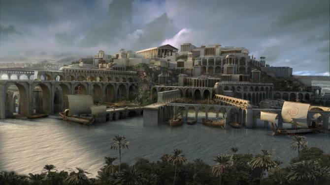 Остров Санторин - бывшая Атлантида? (4 фото)