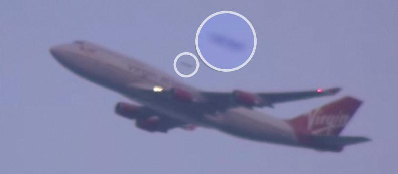 UFO overtook the plane in New York