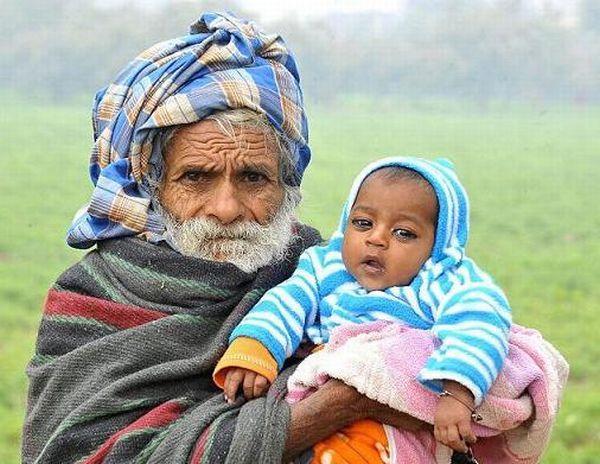 фото старик и молодая