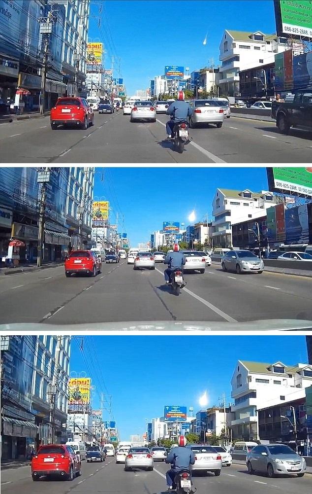 Неопознанный огненный шар пронесся над Бангкоком (2 фото + видео)