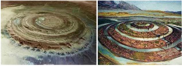 Структура Ришат в Сахаре это остатки древней Атлантиды? (6 фото)