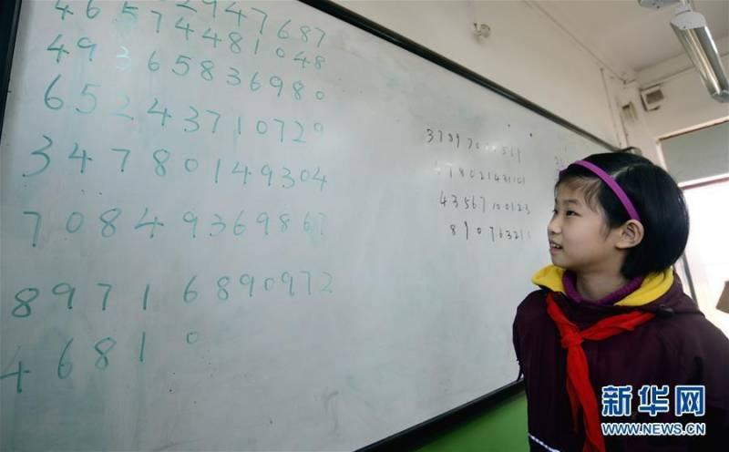 10-летняя китаянка обладает феноменальной памятью (3 фото)