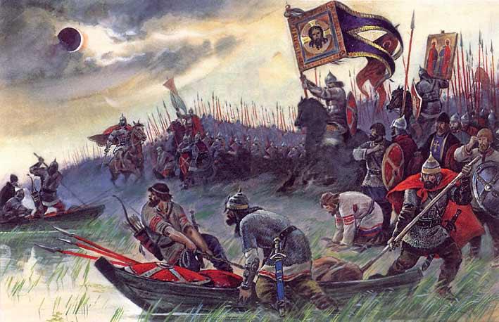 Небесные видения над полями военных сражений в русской истории (3 фото)