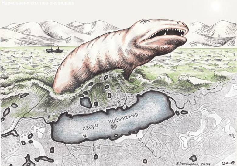 Загадки Якутии: Лабынкырское чудовище (6 фото)