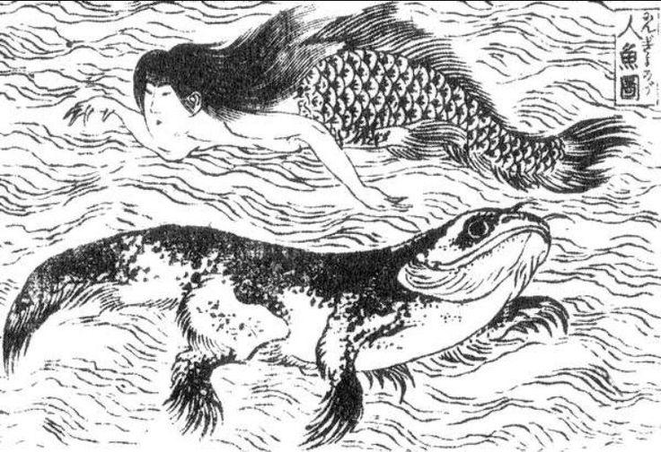 Нингё - страшные японские русалки (4 фото)