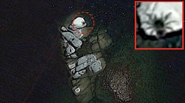 На картах Google Earth заметили огромного паука или краба (3 фото + видео)