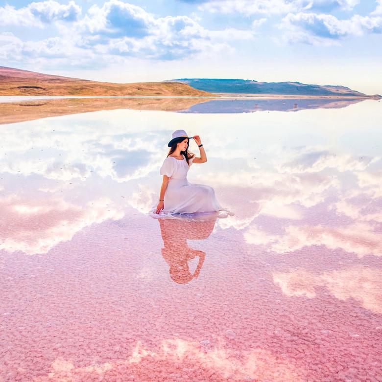 Розовое озеро на Алтае (12 фото)