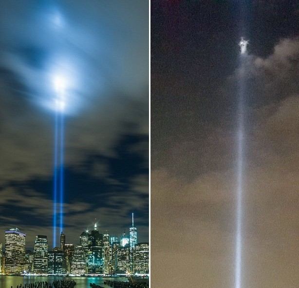 Там где стояли башни-близнецы сфотографировали ангела?