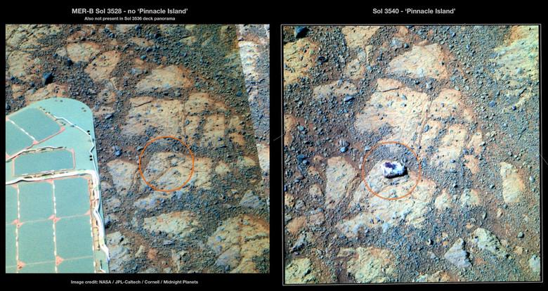 Движущиеся камни других планет