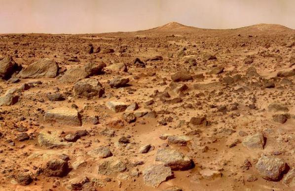 Под поверхностью Марса находится большое ледяное море (3 фото)
