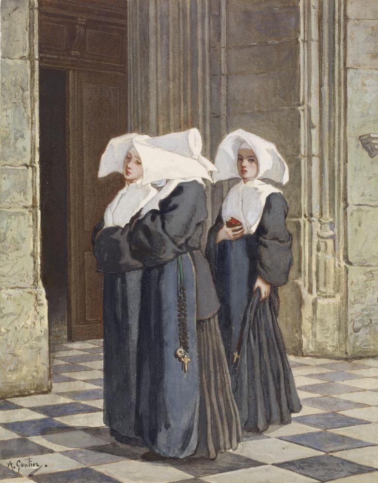 Стучащий дух монахини (2 фото)