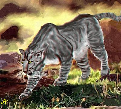 Загадочный зверь Мнгва - африканский тигр, ростом с осла (3 фото)