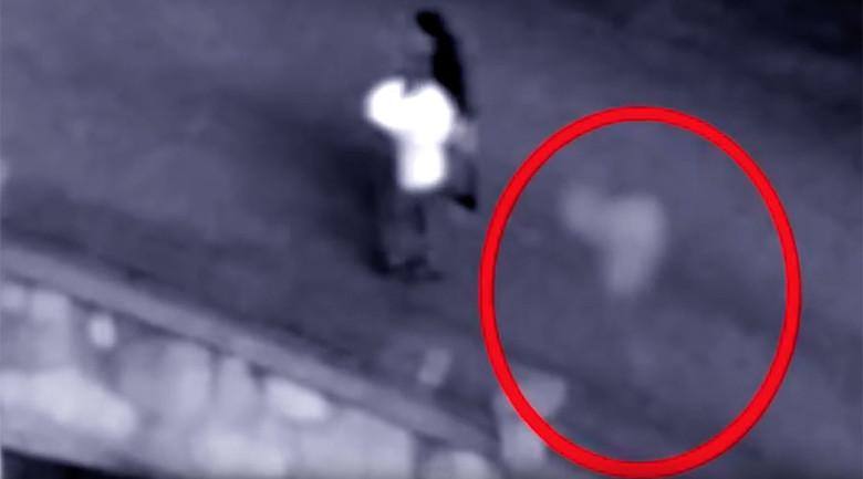 Видеозапись с призрачным силуэтом, который преследовал молодую пару (2 фото + видео)