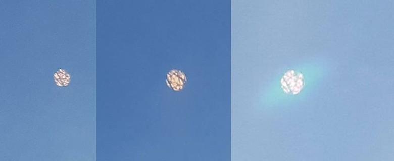 """Американка из Небраски сделала фото быстро летящего в небе объекта в форме """"бриллианта"""" (3 фото)"""
