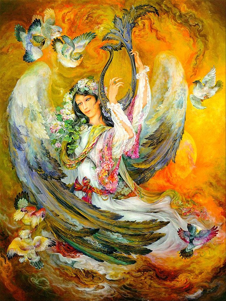 Пери - прекрасные эльфоподобные духи-любовники в легендах народов Средней Азии (4 фото)