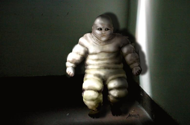 Время от времени люди встречают странных пришельцев похожих на человечка из «Мишлен» (4 фото)