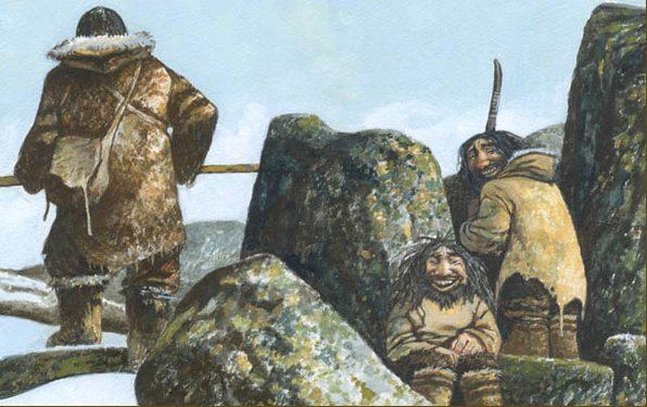 Маленькие человечки из легенд инуитов