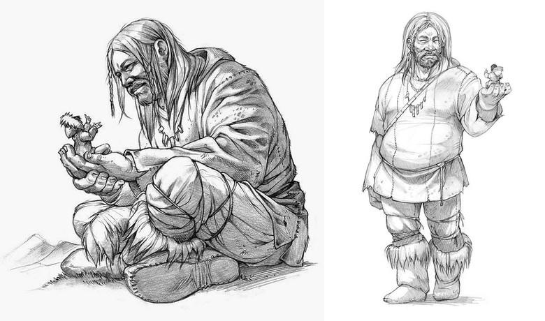 Маленькие человечки из легенд инуитов (2 фото)