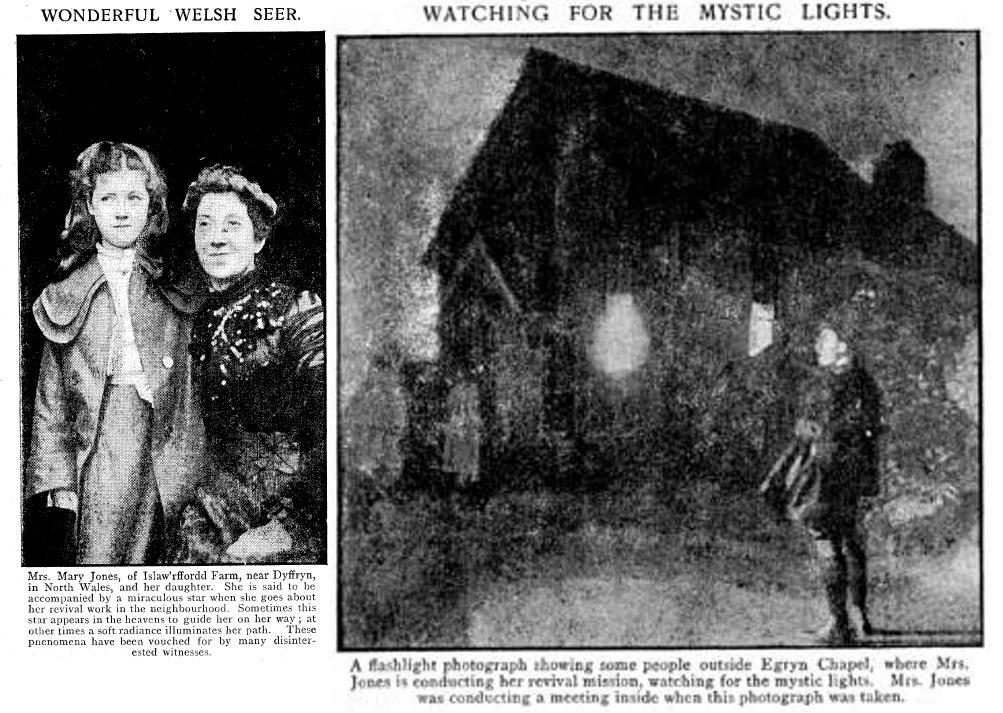 Призрачные огни, сопровождавшие набожную Мэри Джонс из Эгрина