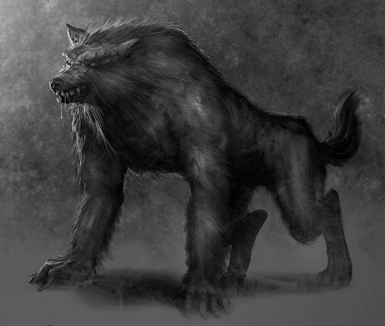 Убивающие людей черные лохматые демоны-монстры из древних летописей (2 фото)