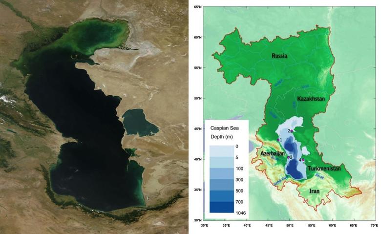 Американские специалисты уверяют, что через 75 лет Каспийское море частично пересохнет (4 фото + видео)
