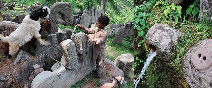 В Гималаях нашли ритуальные комплексы с необычными каменными всадниками (4 фото)