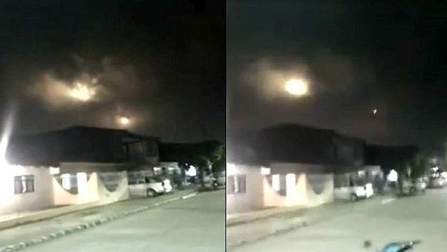 Необычное явление сняли в Колумбии