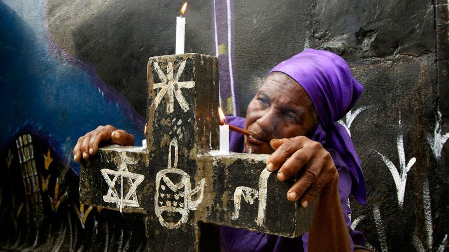 Гаитянский кладбищенский Барон Самеди - посредник между людьми и богами