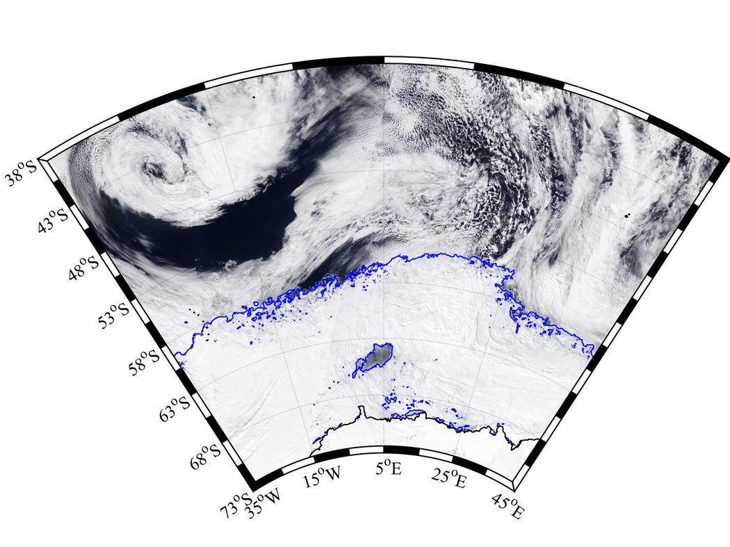 В Антарктиде обнаружили загадочно возникшую огромную полынью