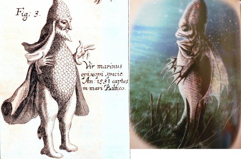 Морской Монах и Морской Епископ - странные рыбы из средневековых бестиариев (5 фото)