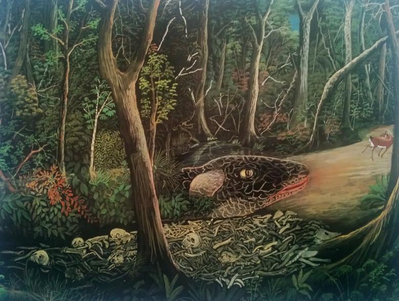 Загадочный огромный червь минхочао из легенд бразильских индейцев (6 фото)