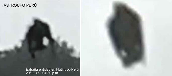 Житель Перу заснял взлетающее черное существо (3 фото)