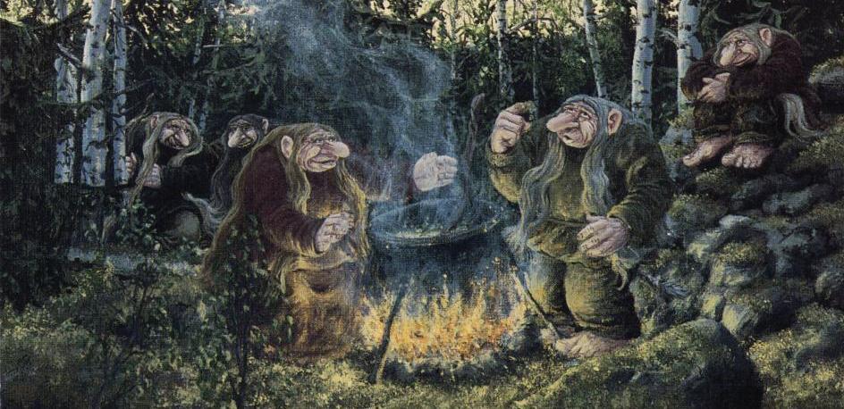 История о том как супруги с двумя детьми видели волосатых троллей в Стаффордшире