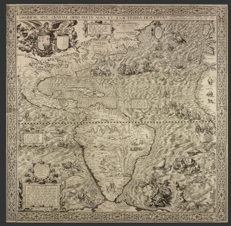На карте 16 века нашли рисунок русалки, держащей в руках НЛО (3 фото)