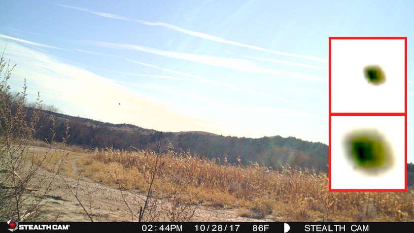 В Небраске камера наблюдения за дикими животными засняла несколько НЛО