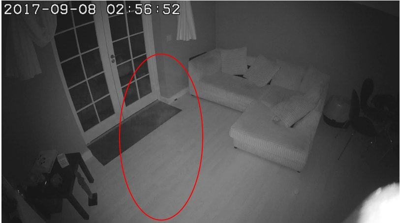 Полупрозрачный силуэт попал на камеру наблюдения в здании, где раньше была больница