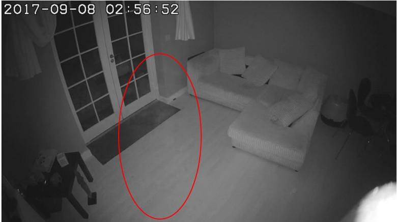 Полупрозрачный силуэт попал на камеру наблюдения в здании, где раньше была больница (2 фото + видео)