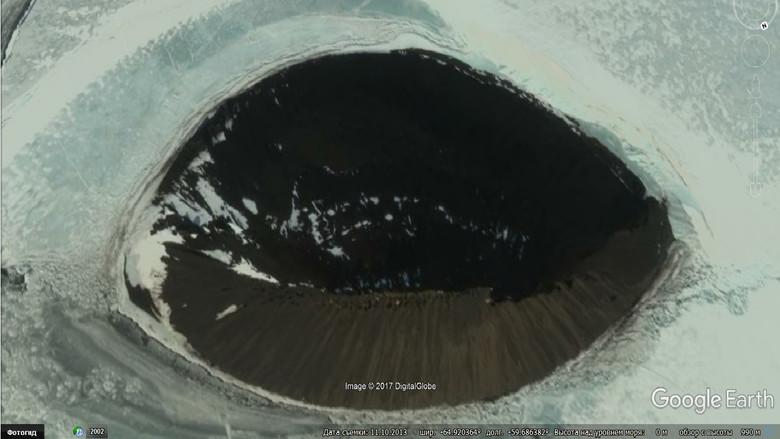 Исследователь Валентин Дегтерев возможно нашел на фото Антарктиды легендарный вход в подземный мир  S69428974