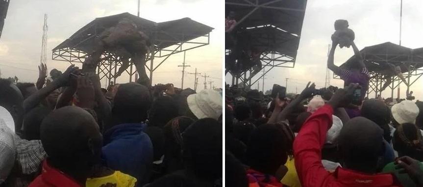 В Кении шаман извлек из-под моста двух странных существ, которых обвинили в гибели 12 человек