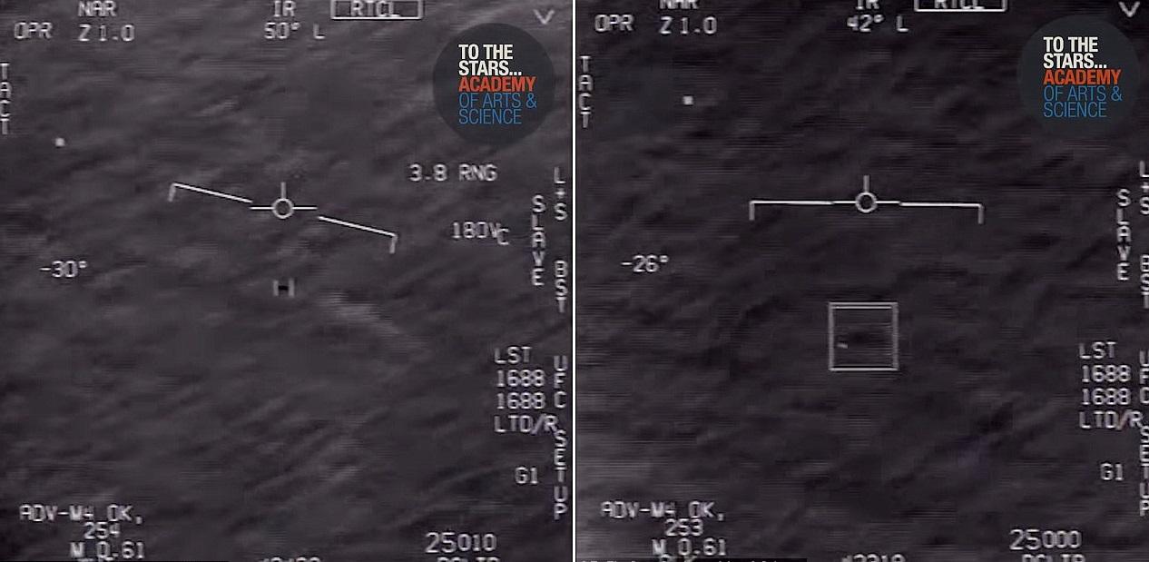 В США опубликовали видео со сверхскоростным НЛО, снятым американским военным пилотом