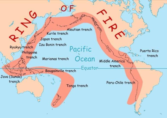 """Череда новых небольших толчков в """"Кольце огня"""" может привести к скорому мощному землетрясению (2 фото)"""